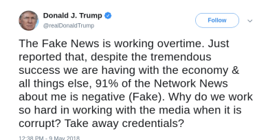 "Trump Admits ""Fake News"" Really Means ""Negative Media Coverage"""