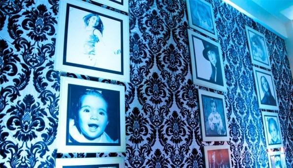 festa azul e preto