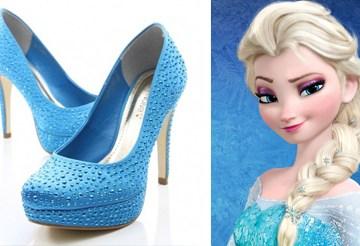 Sapatos Azuis Frozen Elsa