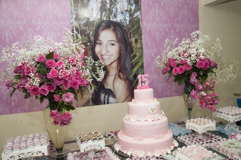 festa rosa 15 anos