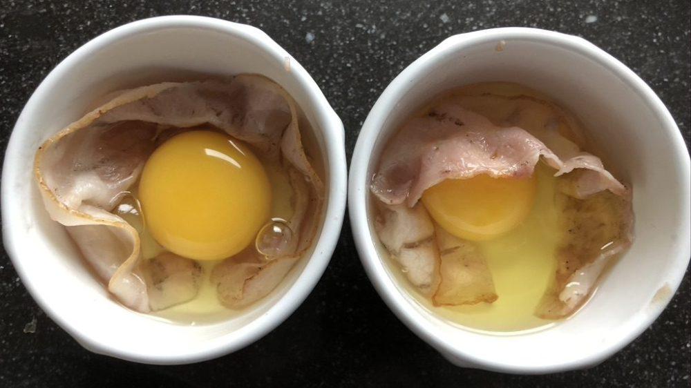 eieren in het schaaltje