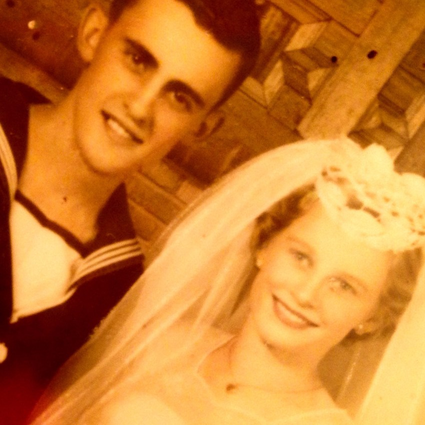 My parents on their wedding day 56 years ago