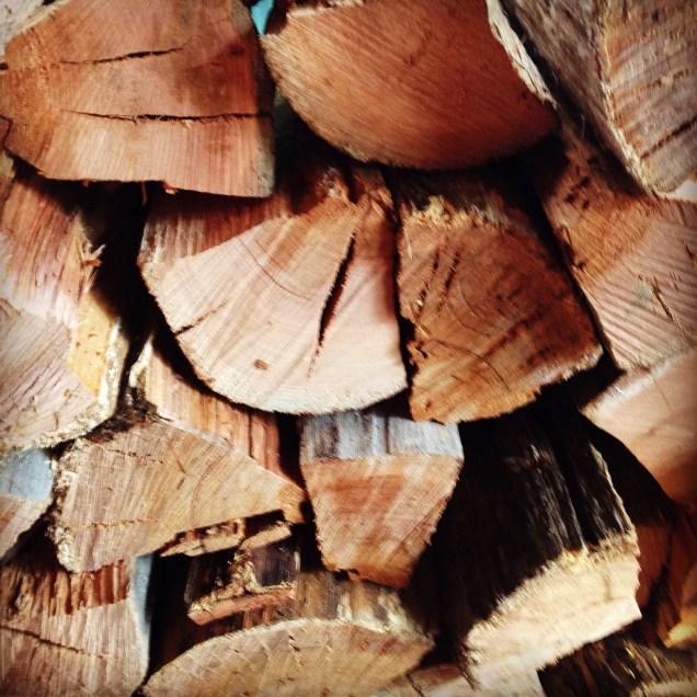 the ubiquitous wood pile