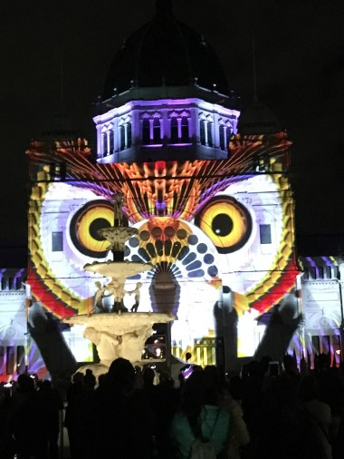 The owl on he Royal Exhibition building