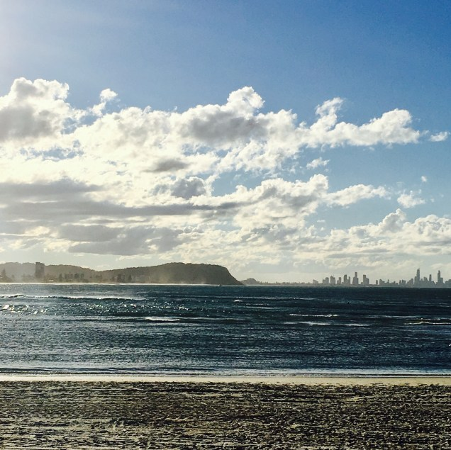 Gold Coast view fro the beach