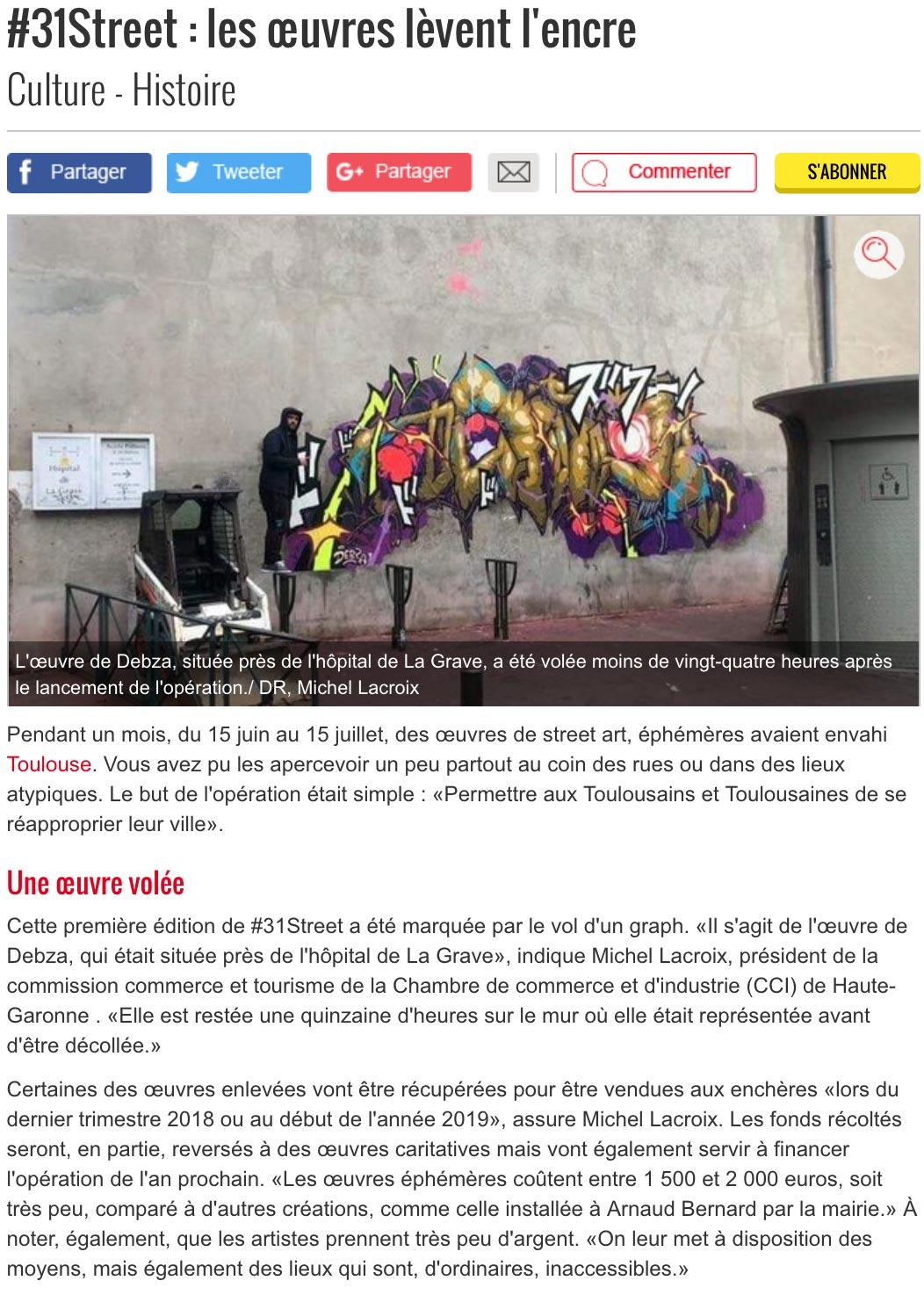 31 street 2018 Toulouse