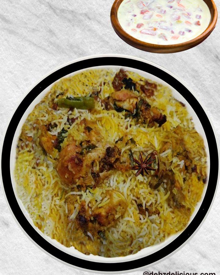Hyderabadi Chicken Biryani, Chicken Dum Biryani, How to Make Hyderabadi Chicken Biryani step by step