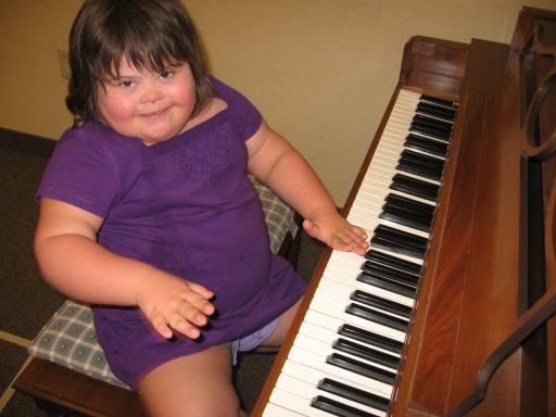 Jessica at the piano