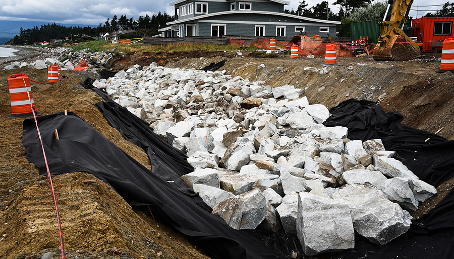 Project Watershed files complaint against Town of Comox over Cape Lazo rip-rap