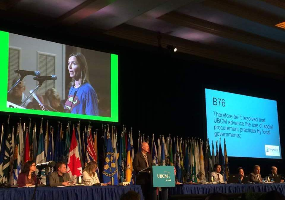 Cumberland UBCM resolution set the stage for a social hub