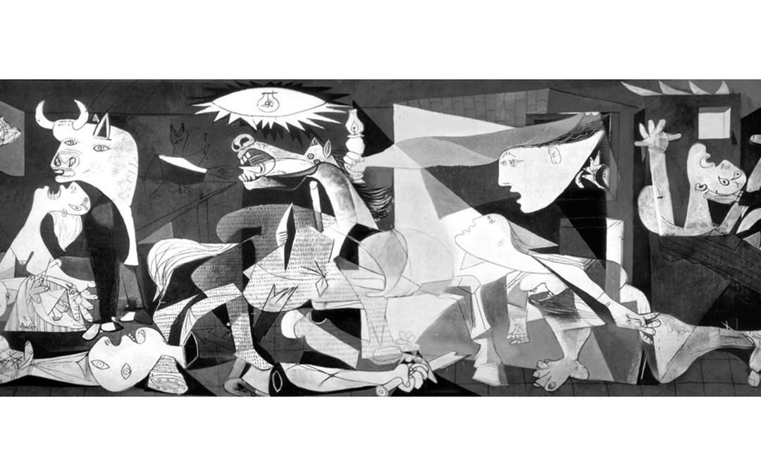 The meaning of Guernica explained in a subway