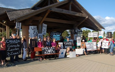 Comox Valley adds voices to the demand for a federal climate debate