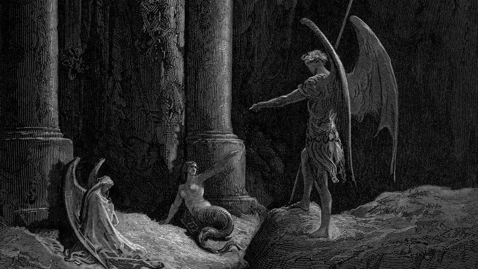 Illustration de Gustave Doré pour Paradise Lost de Milton