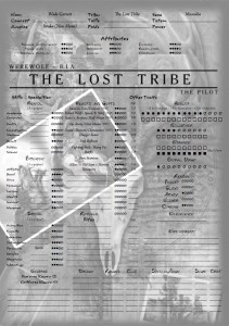 Feuille de Personnage The Lost Tribe Wade Garrett version Werewolf recto