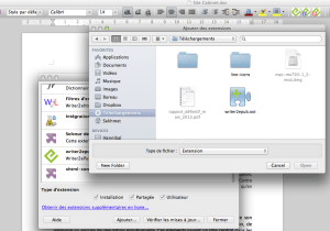 Installation de Writer2ePub dans Writer de la suite LibreOffice