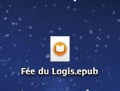 Résultat de la génération d'un ePub par Writer2ePub : un fichier sur le bureau de votre ordinateur