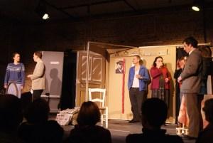 Un drôle de cadeau, acte 4, avant l'entrée en scène de Marcel Feuillard