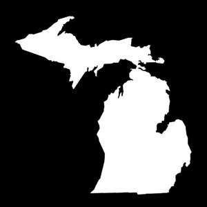 Michigan Map Decal