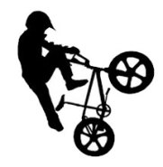 bmx bike iron-on decal