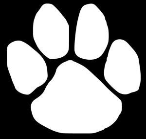Dog Paw Print Decal