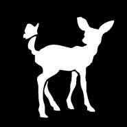 baby deer and butterfly decal