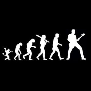 evolution bass player decal
