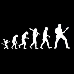 evolution bass player decal