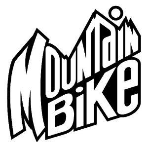 mountain bike iron-on decal