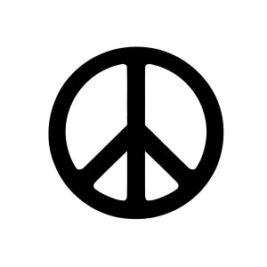 peace sign iron-on decal