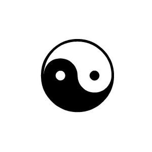 yin yang iron-on decal