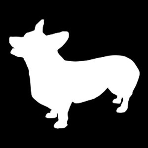 welsh corgi decal