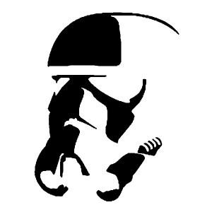 storm trooper 2 iron-on