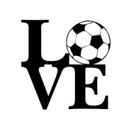 soccer love iron-on