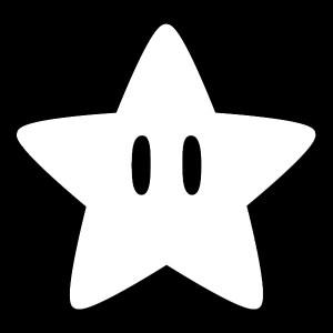 mario star decal