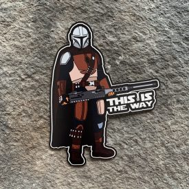 Mando This is the Way Vinyl Decal
