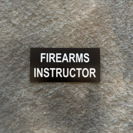 Firearms Instructor Vinyl Decal