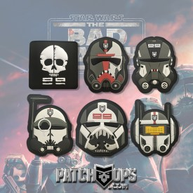 Star Wars-  The Bad Batch Complete Set PVC Morale Patches