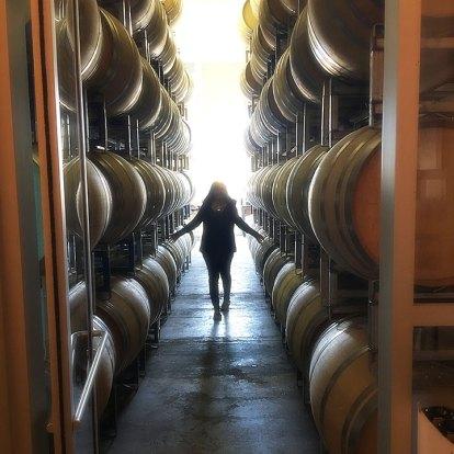 Cooper Wines barrel alley