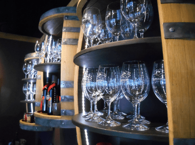 Warr-King Wines tasting glasses