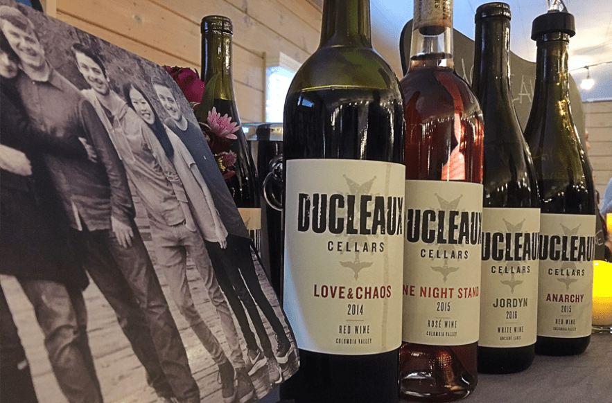 Ducleaux Cellars line up