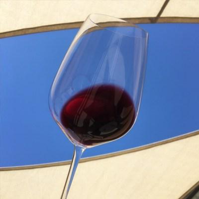 Glass of Col Solare Cabernet Sauvignon