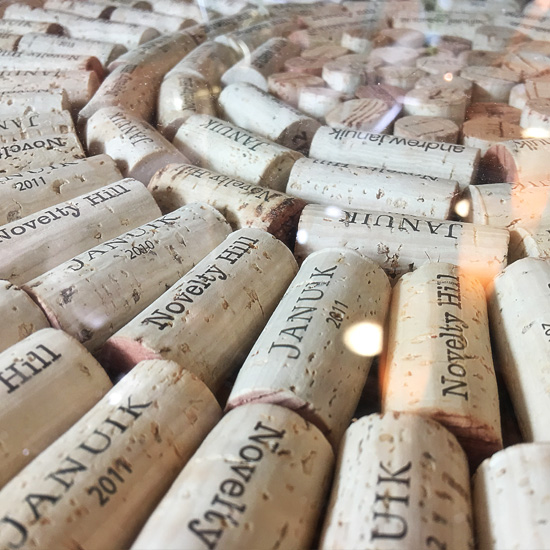 Novelty Hill-Januil Winery corks
