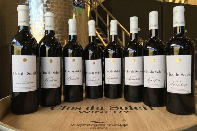 Clos du Soleil Winery bottles