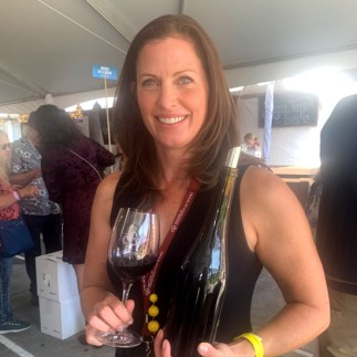 Mari Womack, winemaker for Damsel Cellars