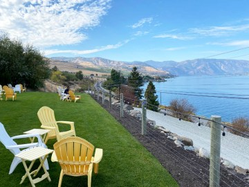View of Lake Chelan from Mellisoni Vineyards
