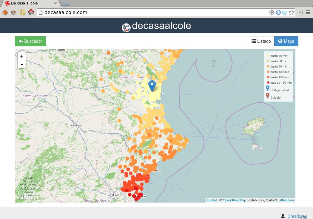 De Casa al Cole map
