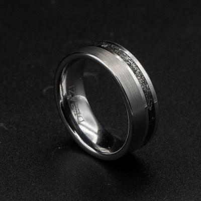 mens wedding band meteorite