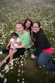 Aunt Erica, Aunt Crystal, Michelle, Gaby