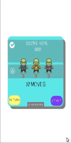 Zombi Road Match 3 GIF