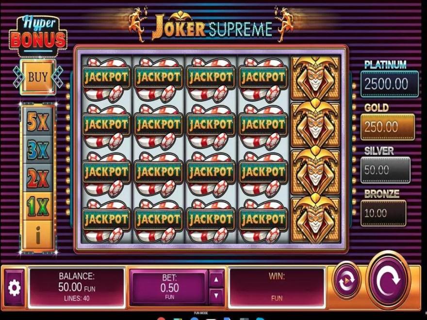 Joker Supreme ss - ベラジョンカジノのVIPプレイヤーにオススメのハイローラー向け高額ベット可能なゲームを紹介